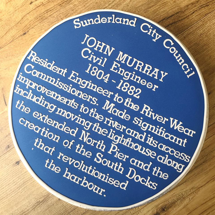 Sunderland City Blue Plaque Cake