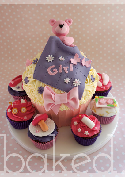 Baby Shower Giant Cupcake