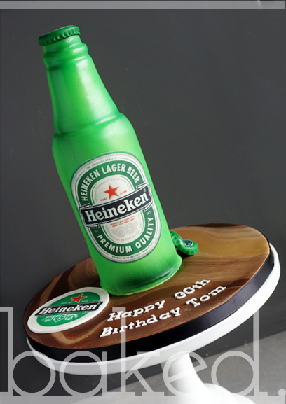 Heineken Bottle Cake
