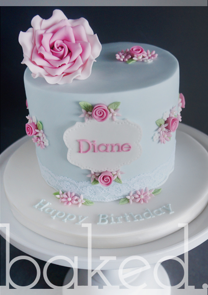 Sugar Rose birthday cake