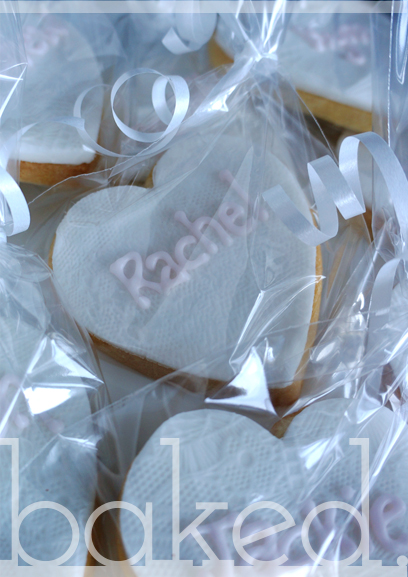Lace Cookie Wedding Favours & Place Setings