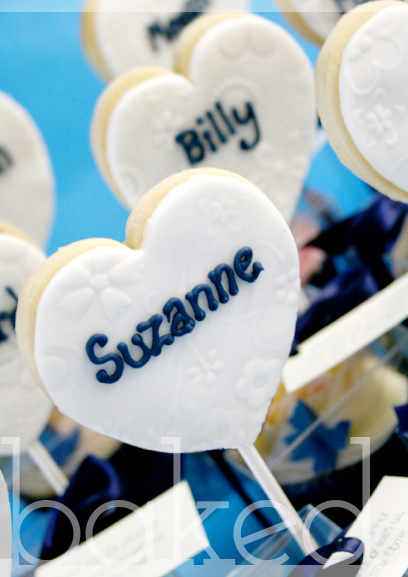 Personalised Cookie Pop Wedding Favour