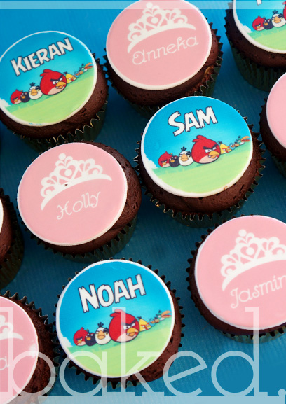 Angry Birds and Princess Cupcakes