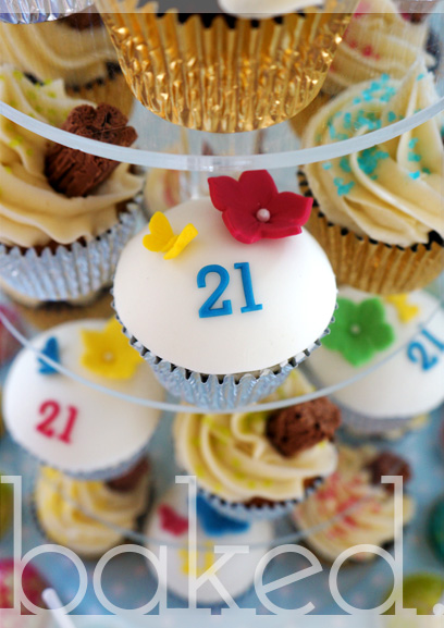21st Cupcake Tower