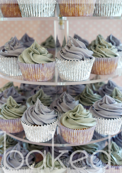 Purple & Silver Cupcake Tower
