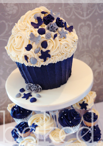 Seaside Wedding Cupcake Tower