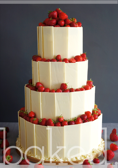 Chocolate Shard & Fruit Wedding Cake