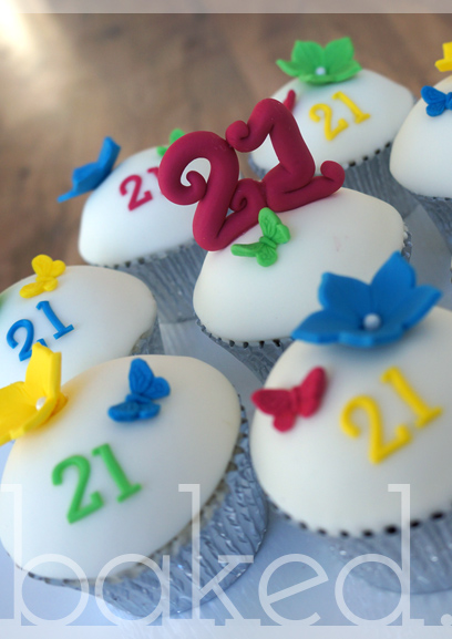 Bright 21st Birthday Cupcakes
