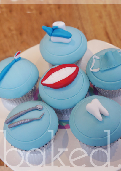 Dentist Themed Cupcakes