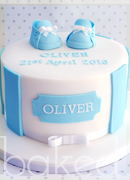 Baby Bootie Christening Cake