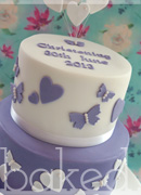 Purple Christening Cake