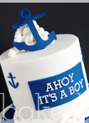 Baby Boy Nautical Shower Cake