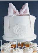 Lace Christening Cake Tower