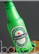 Heineken Beer Bottle Cake