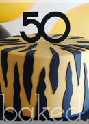 Tiger Stripe Birthday Cake