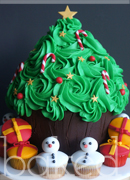 Giant Christmas Tree Cake