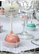 Cake Pop Wedding Table Place Names