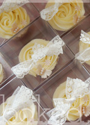 Pearl Butterfly Cupcake Wedding Favours