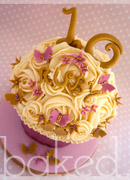 Pink and Gold Giant Cupcake
