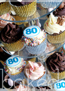 80th Cupcake Tower