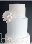 Powder Blue Lace Wedding Cake