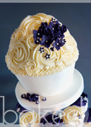 Plum Flower Giant Cupcake Wedding Tower