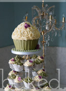 Sage and Rose Elegant Wedding Cupcakes