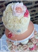 Peachs & Cream Giant Wedding Cupcake