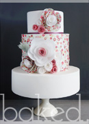 Wafer Flower Wedding Cake
