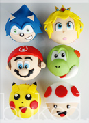 Super Mario Smash Bros Cupcakes