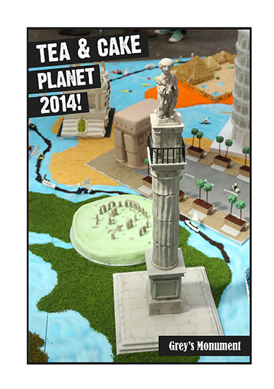 Tea and Cake Planet Grey's Monument Cake