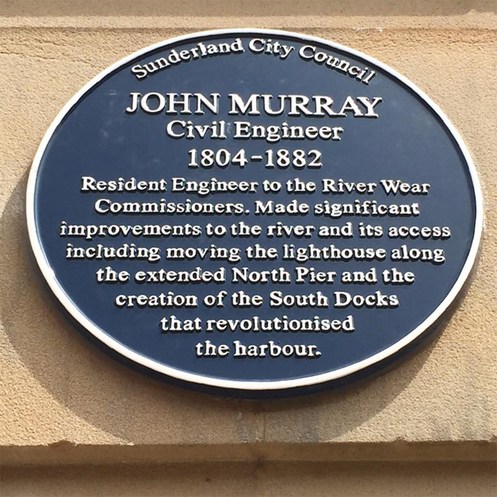 John Murray Blue Plaque Sunderland